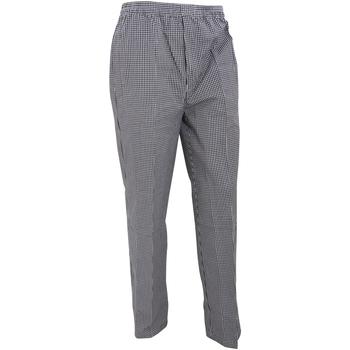 vaatteet Väljät housut / Haaremihousut Premier PR552 Black/White Check