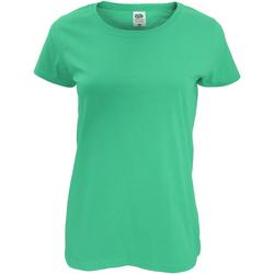 vaatteet Naiset Lyhythihainen t-paita Fruit Of The Loom 61420 Kelly Green