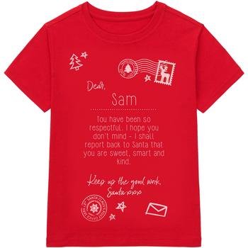 vaatteet Lapset Lyhythihainen t-paita Christmas Shop CS145 Red