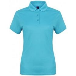 vaatteet Naiset Lyhythihainen poolopaita Henbury HB461 Turquoise