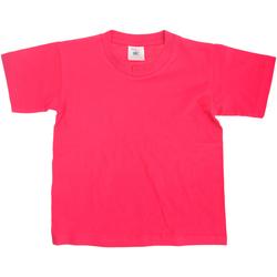 vaatteet Lapset Lyhythihainen t-paita B And C TK300 Fuchsia