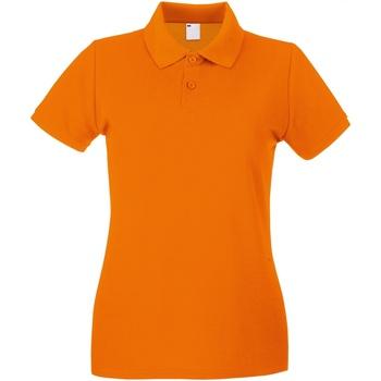 vaatteet Naiset Lyhythihainen poolopaita Universal Textiles 63030 Bright Orange