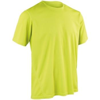 vaatteet Miehet Lyhythihainen t-paita Spiro S253M Lime Green