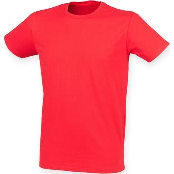 vaatteet Miehet Lyhythihainen t-paita Skinni Fit SF121 Bright Red