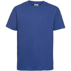 vaatteet Lapset Lyhythihainen t-paita Russell 155B Bright Royal