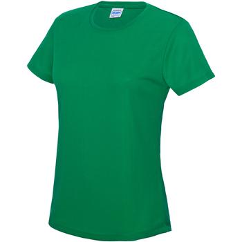 vaatteet Naiset Lyhythihainen t-paita Awdis JC005 Kelly Green