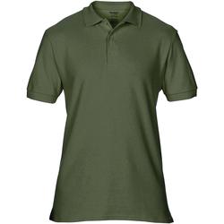 vaatteet Miehet Lyhythihainen poolopaita Gildan Premium Military Green