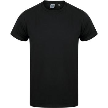 vaatteet Lapset Lyhythihainen t-paita Skinni Fit SM121 Black