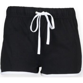 vaatteet Lapset Shortsit / Bermuda-shortsit Skinni Fit SM069 Black / White