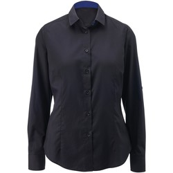 vaatteet Naiset Paitapusero / Kauluspaita Alexandra AX060 Black/ Royal