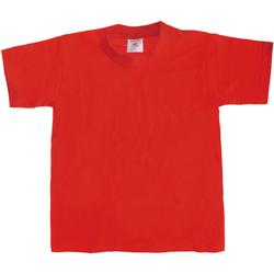 vaatteet Lapset Lyhythihainen t-paita B And C TK301 Red
