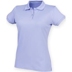 vaatteet Naiset Lyhythihainen poolopaita Henbury Coolplus Lavender