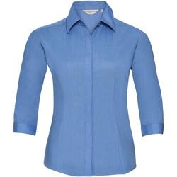 vaatteet Naiset Paitapusero / Kauluspaita Russell 926F Corporate Blue