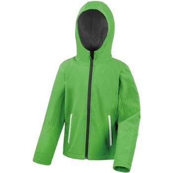 vaatteet Lapset Pusakka Result R224JY Vivid Green/Black