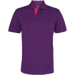 vaatteet Miehet Lyhythihainen poolopaita Asquith & Fox AQ012 Purple/ Pink