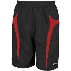 vaatteet Miehet Shortsit / Bermuda-shortsit Spiro S184X Black/Red