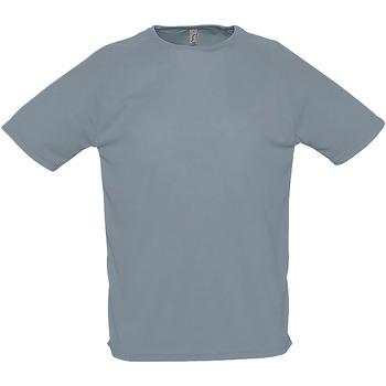 vaatteet Miehet Lyhythihainen t-paita Sols 11939 Pure Grey