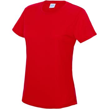 vaatteet Naiset Lyhythihainen t-paita Awdis JC005 Fire Red