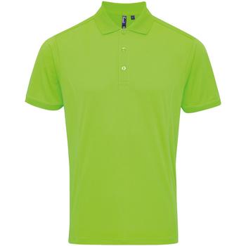 vaatteet Miehet Lyhythihainen poolopaita Premier PR615 Neon Green