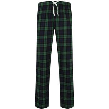 vaatteet Miehet pyjamat / yöpaidat Skinni Fit SFM83 Navy/Green Check