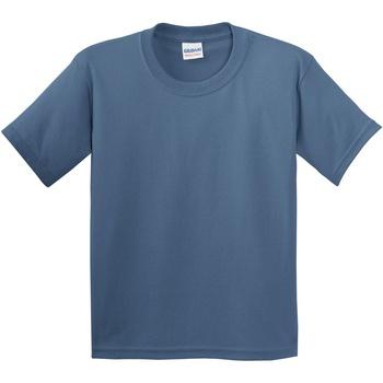 vaatteet Lapset Lyhythihainen t-paita Gildan 5000B Indigo Blue