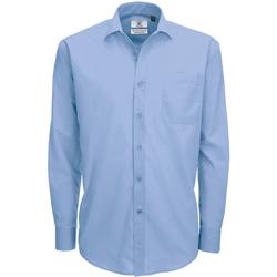 vaatteet Miehet Pitkähihainen paitapusero B And C SMP61 Business Blue