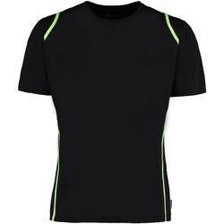 vaatteet Miehet Lyhythihainen t-paita Gamegear Cooltex Black/Flourescent Lime