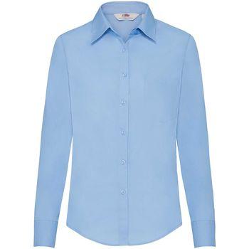 vaatteet Naiset Paitapusero / Kauluspaita Fruit Of The Loom 65012 Mid Blue
