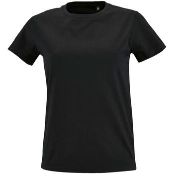 vaatteet Naiset Lyhythihainen t-paita Sols 2080 Deep Black