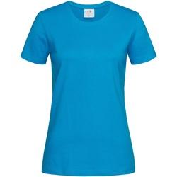 vaatteet Naiset Lyhythihainen t-paita Stedman  Ocean Blue