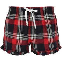 vaatteet Naiset Shortsit / Bermuda-shortsit Skinni Fit SK082 Red/Navy Check