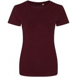 vaatteet Naiset Lyhythihainen t-paita Ecologie EA01F Burgundy