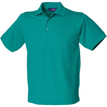 vaatteet Miehet Lyhythihainen poolopaita Henbury HB400 Jade