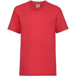 vaatteet Lapset Lyhythihainen t-paita Fruit Of The Loom 61033 Red