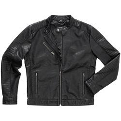 vaatteet Miehet Nahkatakit / Tekonahkatakit Stedman Biker Black Opal