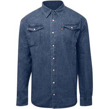 vaatteet Miehet Pitkähihainen paitapusero Duke  Stonewash