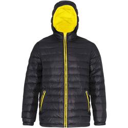 vaatteet Miehet Toppatakki 2786 TS016 Black/Bright Yellow