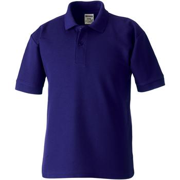 vaatteet Lapset Lyhythihainen poolopaita Jerzees Schoolgear 65/35 Purple