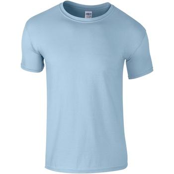 vaatteet Miehet Lyhythihainen t-paita Gildan Soft-Style Light Blue