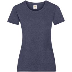 vaatteet Naiset Lyhythihainen t-paita Fruit Of The Loom 61372 Vintage Heather Navy