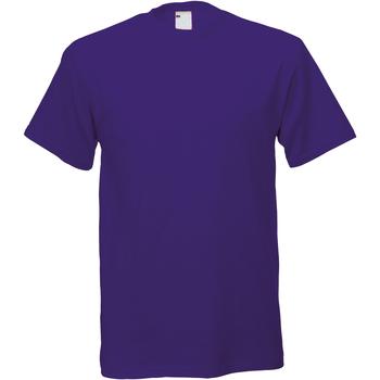 vaatteet Miehet Lyhythihainen t-paita Universal Textiles 61082 Grape