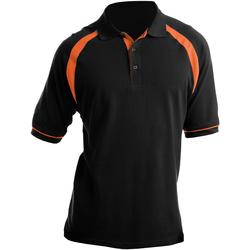 vaatteet Miehet Lyhythihainen poolopaita Kustom Kit KK615 Black/Orange