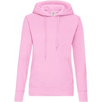 vaatteet Naiset Svetari Fruit Of The Loom 62038 Light Pink