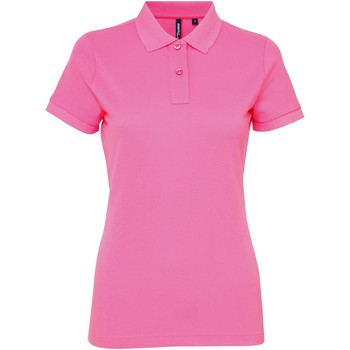 vaatteet Naiset Lyhythihainen poolopaita Asquith & Fox AQ025 Neon Pink