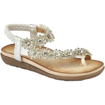 kengät Naiset Sandaalit ja avokkaat Cipriata  Light Silver