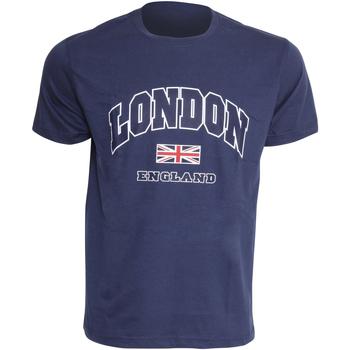 vaatteet Miehet Lyhythihainen t-paita England  Navy