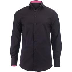 vaatteet Miehet Pitkähihainen paitapusero Alexandra Hospitality Black/ Pink