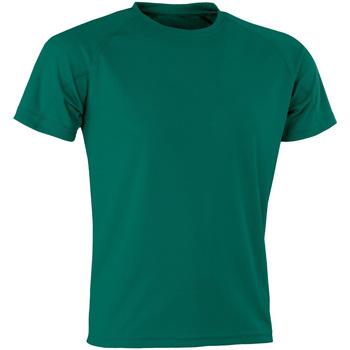 vaatteet Lyhythihainen t-paita Spiro Aircool Bottle Green