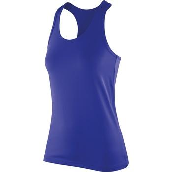 vaatteet Naiset Hihattomat paidat / Hihattomat t-paidat Spiro S281F Sapphire