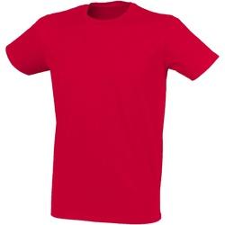 vaatteet Miehet Lyhythihainen t-paita Skinni Fit SF121 Heather Red